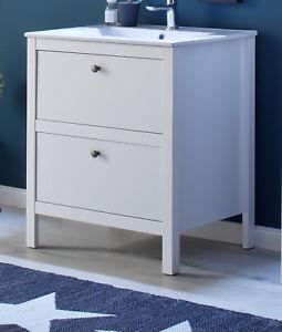 waschtisch komplett mit waschbecken wei waschbeckenunterschrank bad ole 60 cm ebay