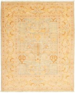 Vintage-Hand-Knotted-Carpet-8-039-1-034-x-10-039-0-034-Traditional-Wool-Oriental-Area-Rug