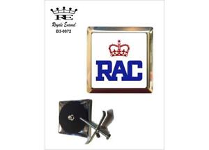 ROYALE SQUARE CAR GRILL BADGE - RAC ROYAL AUTOMOBILE CLUB B3.0072