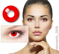 Farbige Crazy Fun Karneval Halloween Kontaktlinsen Contact lenses - DEVIL RED