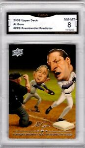2008-Upper-Deck-Presidential-Predictors-Al-Gore-G-W-Bush-Graded-GMA-8-NM-MT