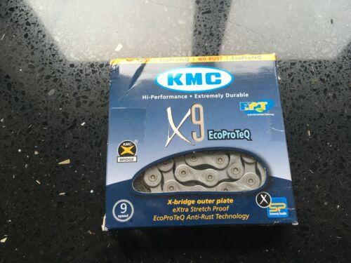 KMC MTB Chain X9EPT Silver 9 Speed 116 Links X9 EPT