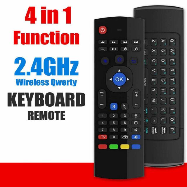 Calvas Foldable bluetooth keyboard for computer and Keyboard remote control for computer Android TV box Smart TV HTPC Color: Black
