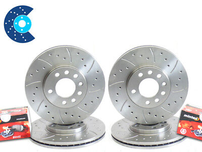 E46 BMW 3 Series 320Cd 325Ci 328Ci 99-07 Grooved Front Brake Discs /& Pads