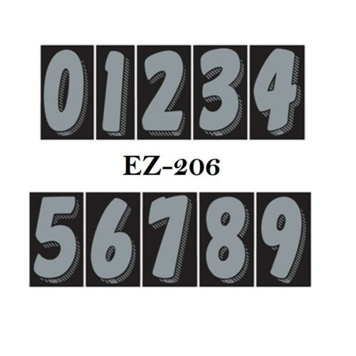 """Car Dealer Window Stickers 7 1//2/"""" Numbers Silver and Black 10 Packs Free Ship"""