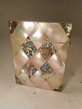 Antique Abalone & Mother of Pearl Card Case   ref 2906