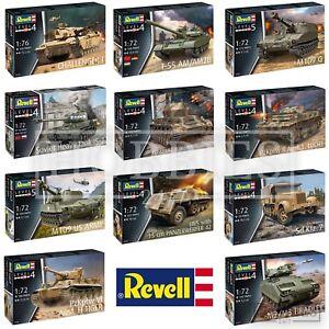 REVELL-Tanks-1-72-Model-Kits-Challenger-T34-T55-M109-M2-Bradley-PzKpfw-TIGER