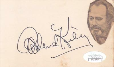 Autographs-original Richard Kiley D 1999 Signed 3x5 Index Card Actor/man Of La Mancha Jsa Cc22977