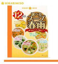 HIKARI 6 taste Hot soup Harusame 12 pack noodle mix Japanese Japan Mug Cup Tasty