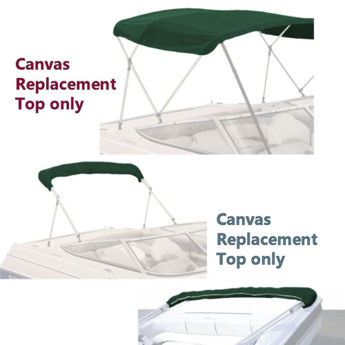 "BIMINI TOP BOAT COVER CANVAS FABRIC GREEN W//BOOT FITS 4 BOW 96/""L 54/""H 97/""-104/""W"