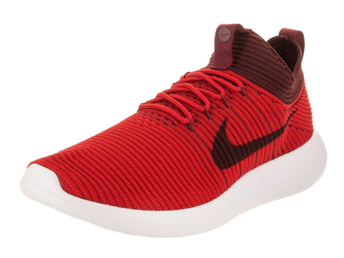 Nike Men's Roshe Two Flyknit V2 Running shoes size size size 12.0 University Dark Team Red 4f649d