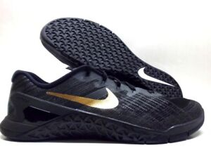 NIKE METCON 3 ID BLACK/METALLIC GOLD-BLACK SIZE MEN'S 12 [920369-991]