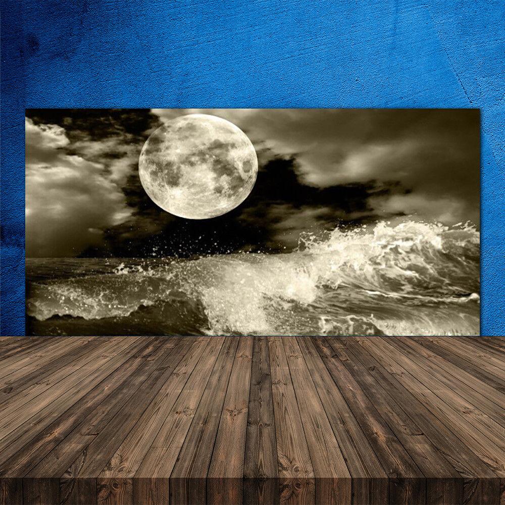 Crédence de cuisine en verre Panneau 120x60 Paysage Nuit Lune