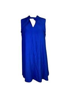 Cue Womens Size 14 Shift Sleeveless Midi Dress Fabric From Europe