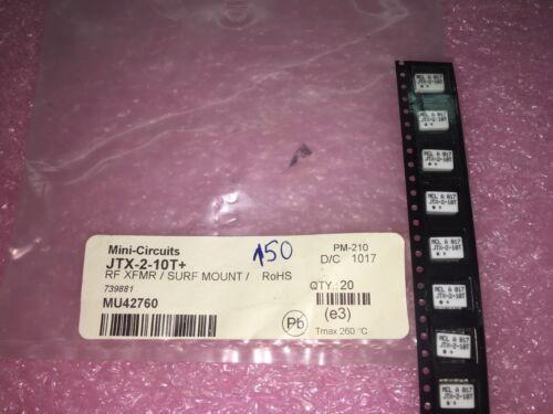 RoHS JTX-2-10T+ 5 Piezas Lote transformador de RF,? 75? 50 a 1000 Mhz de montaje en superficie