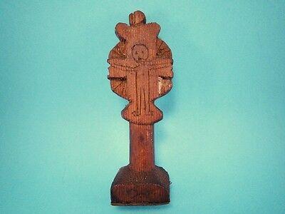 Alert Original Rare Antique 1800's In Wooden Cross Bread Prosphora Stamp!!!' Superior Quality