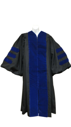 "56XXL Chest 49/""- 60/"" Doctoral Gown-Black,Blue or Red velvet-for height 6/'0/""-6/'2/"""
