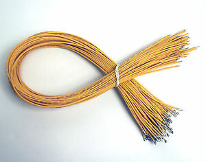 Wire 26AWG 1007 300V 80℃ UL CSA RoHS L=25cm Color= Yellow 100pc PH 2.0mm Pin