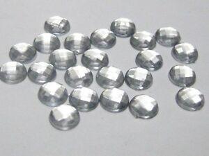 500-Clear-Acrylic-Flatback-Round-Rhinestone-Gems-6mm-FlatBacks-No-Hole