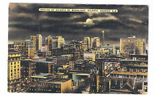 Skyline Of Atlanta By Moonlight Vintage Lien Postcard Atlanta Georgia A-4