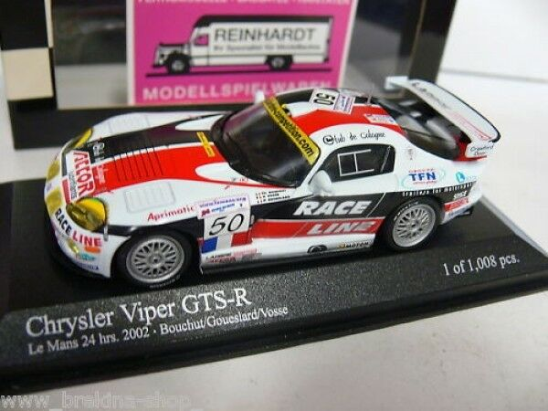 1/43 Minichamps Chrysler Viper GTS-R Le Mans 24 HRS  50 400021450