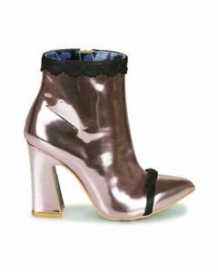 Irregular-Choice-039-039-Anastasia-039-039-C-High-Heel-Zip-Up-Pink-Ankle-Boots-Shoes