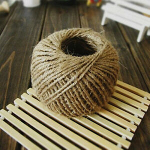 30M-Jute-Twine-String-Shabby-Style-Rustic-Shank-Craft-DIY-Natural-Brown-Jute