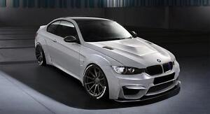 Details About Bmw M4 Style Body Kit For Bmw 3 Series E92 E93 Wide