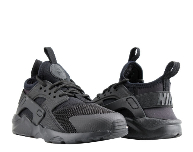 d4409750e7acc Nike Air Huarache Run Ultra (PS) Black Litte Kids Running Shoes 859593-004