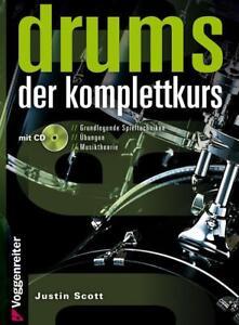 Appris La Drums Komplettkurs-justin Scott Batterie Téléphoniqueet Manuel Avec Cd-afficher Le Titre D'origine