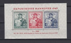 GERMANY-1949-Mi-1a-US-amp-British-Zone-CV-100-MNH
