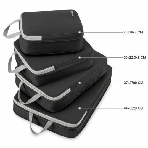 Compression Packing Cube Extensible Organizer Bag For Travel Waterproof Set of 4
