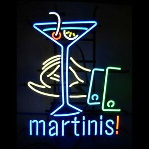 Neon Bulbs & Tubes Custom Cocktails Martini Cup Glass Neon Light Sign Beer Bar