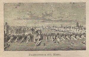 Symbole De La Marque A0720 Francoforte Sul Meno - Germania - Stampa Antica Del 1911 - Xilografia
