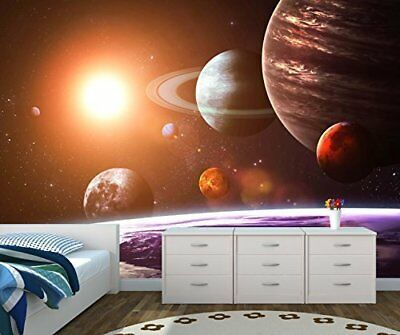 Space Solar System Saturn Planet Wall Mural Wallpaper Picture Self Adhesive 1070