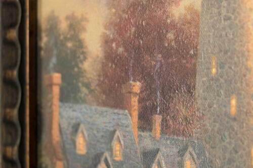 Choice of Frame Thomas Kinkade Evening Majesty 16 x 20 Brushstroke Vignette