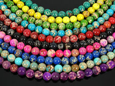 Natural Sea Sediment Jasper Gemstone Round Beads 15.5'' 4mm 6mm 8mm 10mm 12mm