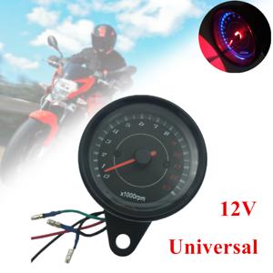 12v Motorcycle Parts Led Backlight Tachometer Speedometer Tacho Gauge 0 13000rpm Ebay