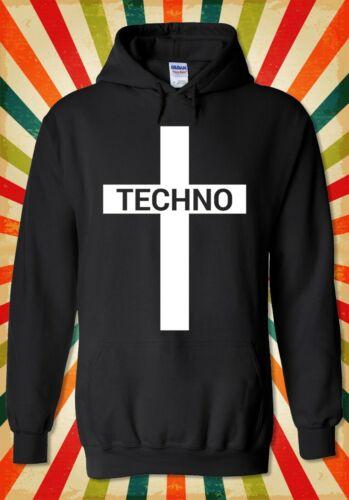 Techno Cross Music Jesus Funny Cool Men Women Unisex Top Hoodie Sweatshirt 2195