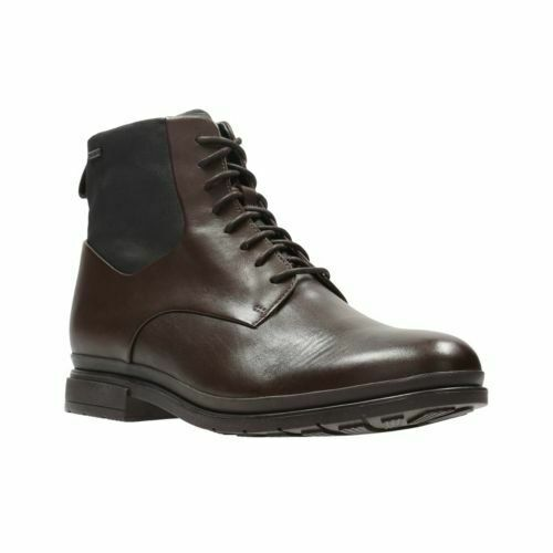 MENS CLARKS LONDONPACE GTX WATERPROOF BROWN ANKLE BOOTS SIZE UK 6 1/2
