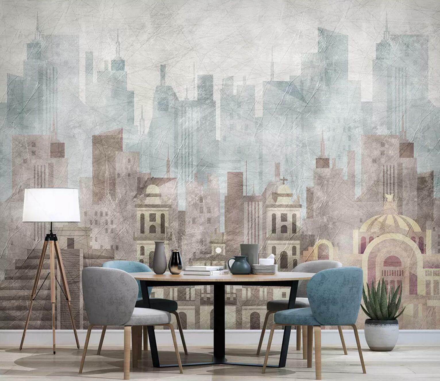 3D City Retro Style 55 Wall Paper Exclusive MXY Wallpaper Mural Decal Indoor AJ