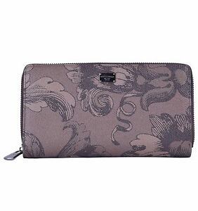 e13889245e1 DOLCE & GABBANA Unisex Zip-Around Floral Printed Dauphine Leather ...