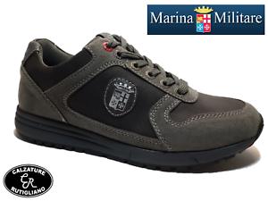 new product 3f5fa d71f4 Dettagli su MARINA MILITARE SCARPE UOMO MODELLO SNEAKER CAMOSCIO GRIGIO -  MM458