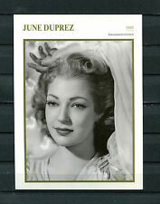 Scheda Star June Duprez-Gran Bretagna 1945 (st6)