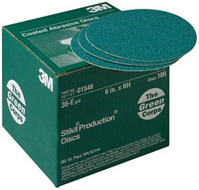 """3M 01550 Green Corps Stikit 8/"""" 40E Grit Production Disc Box of 50"""