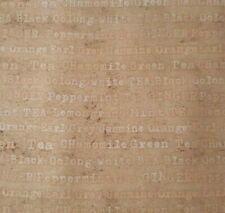 Tea Time BTY Linda Maron SPX Fabrics Names Words Tonal Olive Green