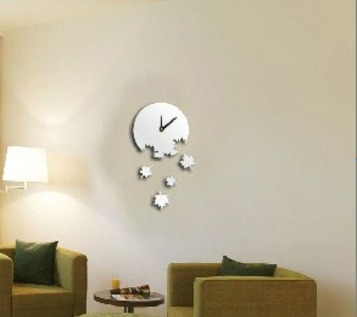 Leafs Fall Acrylic Plastic Clock Mirror Wall ROOM Decal Decor Vinyl Art Stickers