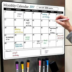 Dry Erase Calendar Whiteboard Magnetic Family Memo Monthly Organizer Plan Board