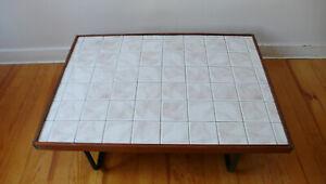 Coffee Table In Wood Ceramic Metal Design Taste Capron Years 50