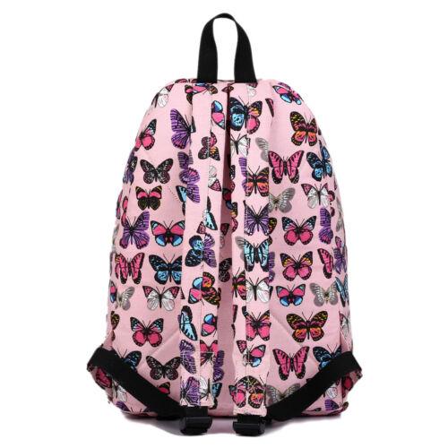 BOYS GIRLS RETRO BACKPACK SCHOOL COLLAGE TRAVEL RUCKSACK BAG